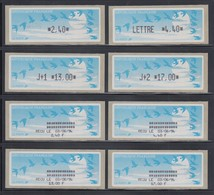 Frankreich ATM LISA Auf Pap. Vogelzug Schwarz Zudruck-Satz 4 Werte Tarif 13 **  - Vignettes D'affranchissement
