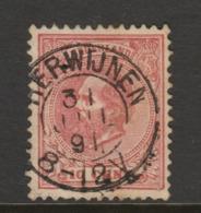 Kleinrond  Herwijnen Op Nr.21  Willem III  CW. 14,50 - Period 1852-1890 (Willem III)
