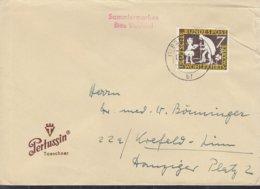 BRD 322 EF, Auf Drucksache, Stempel: Berlin SW11bf 8.2.1960 - BRD