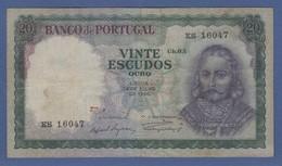 Banknote Portugal 20 Escudos 1960 - Portugal