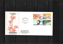 Bahamas 1976 100 Years Of First Telephone Line - Graham Bell FDC - Telecom