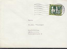 BRD 323 EF, Auf Ortsbrief, Stempel: Krefeld 11.2.1960, Märchen Sterntaler - BRD