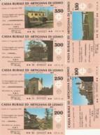 SERIE 6 MINIASSEGNI CASSA RURALE ED ARTIGIANA DI LESMO (YA832 - [10] Assegni E Miniassegni