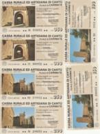 SERIE 6 MINIASSEGNI CASSA RURALE ED ARTIGIANA DI CANTU (YA839 - [10] Assegni E Miniassegni
