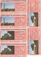 SERIE 6 MINIASSEGNI CASSA RURALE ED ARTIGIANA DI CANTU (YA841 - [10] Assegni E Miniassegni