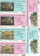 SERIE 6 MINIASSEGNI CASSA RURALE ED ARTIGIANA DI BARLASSINA (YA843 - [10] Assegni E Miniassegni