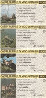 SERIE 4 MINIASSEGNI CASSA RURALE DI VIGO LOMASO (YA852 - [10] Scheck Und Mini-Scheck
