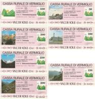 SERIE 7 MINIASSEGNI CASSA RURALE DI VERMIGLIO (YA853 - [10] Assegni E Miniassegni