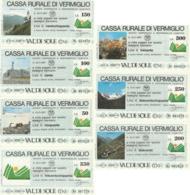 SERIE 7 MINIASSEGNI CASSA RURALE DI VERMIGLIO (YA854 - [10] Assegni E Miniassegni