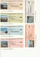 SERIE 6 MINIASSEGNI CASSA RISPARMIO TRENTO ROVERETO (YA865 - [10] Assegni E Miniassegni