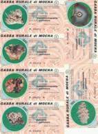 SERIE 6 MINIASSEGNI CASSA RURALE DI MOENA (YA875 - [10] Assegni E Miniassegni