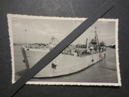 Indochine - NA Vulcain  A656 - Photo Originale - Navire Atelier  - Haïphong  - 1951 - - Bateaux