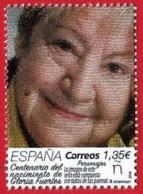 España. Spain. 2018. Personajes. Centenario Del Nacimiento De Gloria Fuertes - 1931-Hoy: 2ª República - ... Juan Carlos I
