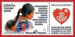España. Spain. 2018. Sello Solidario. Donaciones A ONG's . Manos Unidas - 1931-Hoy: 2ª República - ... Juan Carlos I
