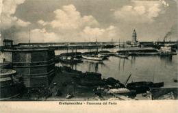 Civitavecchia  Panorama Du Port  Carte Croix-Rouge Voir Au Verso - Civitavecchia