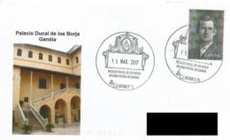 SPAIN. POSTMARK DUCAL PALACE OF BORJA. GANDIA 2017 - España