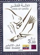 2014 QATAR Joint Issue Between Qatar And Ecuador 1 Values MNH - Qatar