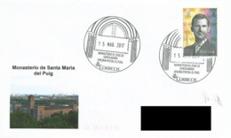 SPAIN. POSTMARK SANTA MARIA DEL PUIG MONASTERY. 2017 - España