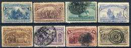 1893 United States VF Used 8 Different Columbians Yt. 70 Euro, Bargain Priced - 1847-99 Emissions Générales