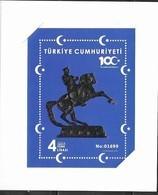 TURKEY, 2019, MNH,CENTENARY OF NATIONAL STRUGGLE, ATATURK, SPECIAL EMBOSSED S/SHEET IN FOLDER - History