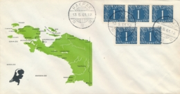 Nederlands Nieuw Guinea - 1961 - Rondstempel FAKFAK/1 Op Special Cover Met Landkaart Van NNG - No Address - Niederländisch-Neuguinea