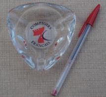 004, Cendrier Publicitaire Comptoirs Français - Verre - Glass
