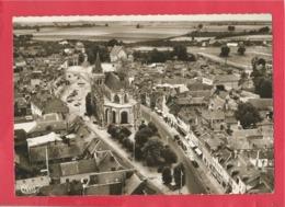 CPSM Grand Format -  Le Neubourg   -(Eure) - Vue Aérienne De 'église Vers Le Vieux Château - Le Neubourg