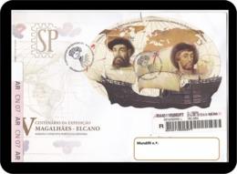Portugal Espanha 2019 FDCB 500 Anos Expedição Fernão Magalhães Juan Sebastián Elcano Join Issue Espana Parchemin - Explorers