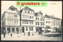 SCHMALKALDEN Salzbrücke Mit Feodor Poppe Weinhandlung Und Hotel Deutsches Haus 1912 - Schmalkalden