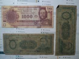 PARAGUAY. PAIRE DE BILLETS DE BANQUE DIFFERENTS. 100 ET 1000 GUARANIES - Paraguay