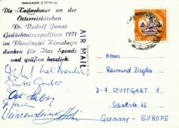 KATHMANDU / Nepal - 1971 , Österreichische Dr. Rudolf Jonas Gedächtnisexpedition Im Dhaulagiri / Himalaya - Nepal