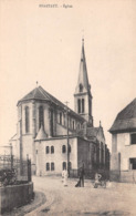 68 - Pfastatt - Beau Cliché Animé Devant L'Eglise - France