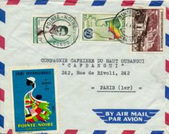 POINTE-NOIR / CONGO  - 1961 ,  Brief Nach Paris / FR - Kongo - Brazzaville