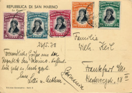 SAN MARINO - 1938 , AK Nach Frankfurt - Saint-Marin