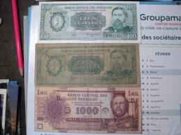 PARAGUAY. LOT DE 3 BILLETS DE BANQUE DIFFERENTES. ANNEES 80 / 2005 - Paraguay