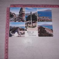 C-74403 SALUTI DA REGGIO CALABRIA CORSO GARIBALDI MONUMENTO AI CADUTI LUNGOMARE E ETNA - Reggio Calabria