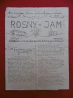 ROSNY JAM JAMBOREE FRANCE 1947 - Historische Dokumente