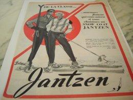 ANCIENNE PUBLICITE DE LA CLASSE UN SNOW COAT DE JANTZEN  1953 - Unclassified