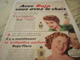 ANCIENNE  PUBLICITE VOUS AVEZ LE CHOIX ROJA 1953 - Perfume & Beauty