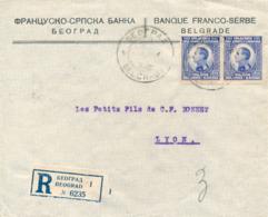 BEOGRAD / Belgrad / JUGOSLAWIEN - 1952 , R - Brief  Der Banque Franco-Serbe Nach Lyon - Dispatch: Big Letter = 4,20 EURO - 1945-1992 Socialist Federal Republic Of Yugoslavia