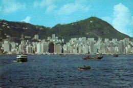 BIRDS EYE VIEW OF CENTRAL TRADE DISTRICT OF HONG KONG-F.G. - Cina (Hong Kong)