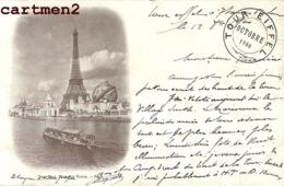 BELLE CPA 1900 : PARIS LA TOUR EIFFEL + CACHET SOMMET DE LA TOUR EIFFEL NEURDEIN - Tour Eiffel