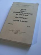 """""""Paris Dans La Littérature Française De 1780 à 1914 - Les Préfaces -André Chénier""""  Cahiers A.I.E.F. 1990/n°42 - Storia"""