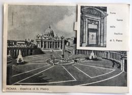 ROMA  BASILICA DI S. PIETRO CARTOLINA CON VALIGETTA  1950  ANNO SANTO - San Pietro
