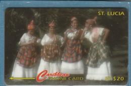 PHONE CARD-ST LUCIA (E48.3.1 - Sainte Lucie