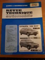 Revue Technique Automobile Voiture Citroën GS 1220 - Auto