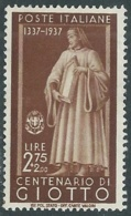 1937 REGNO ILLUSTRI 2,75 LIRE MH * - RB5 - Nuevos