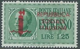 1944 RSI ESPRESSO 1,25 LIRE MNH ** - RB5-6 - 4. 1944-45 Repubblica Sociale