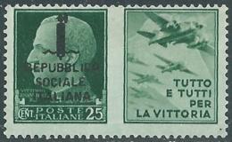 1944 RSI PROPAGANDA DI GUERRA 25 CENT MNH ** - RB5-8 - Propagande De Guerre