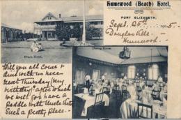 1905 SUDAFRICA , TARJETA POSTAL CIRCULADA , HUMEWOOD BEACH HOTEL - PORT ELIZABETH - Sudáfrica